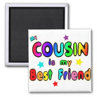 Cousin Best Friend 2 Inch Square Magnet