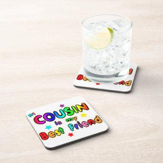 Cousin Best Friend Beverage Coaster