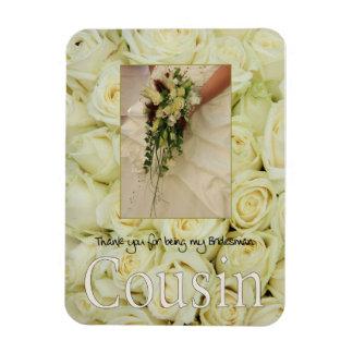 Cousin Bridesman thank you Rectangular Photo Magnet