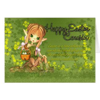 Cousin - Easter Card - Cute Centaur With Easter Ba