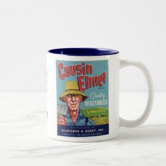Cousin Elmer Vegetables Two-Tone Coffee Mug