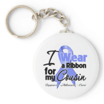 Cousin - Esophageal Cancer Ribbon Basic Round Button Keychain