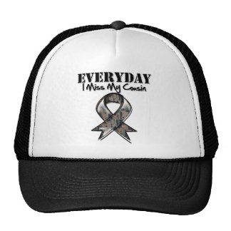 Cousin - Everyday I Miss My Hero Military Trucker Hats