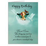 Cousin Fairy Birthday Card With Doves