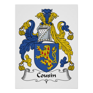 Cousin Family Crest Poster
