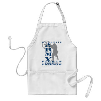 Cousin Fights Freedom - ARMY Adult Apron