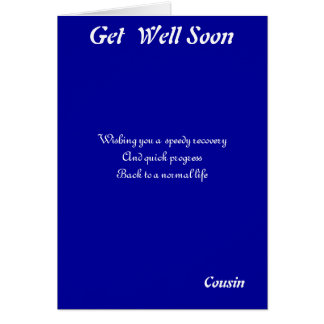 Cousin get well soon cards