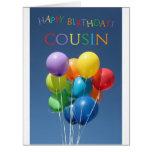 Cousin happy balloon birthday card