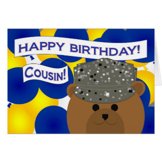 Cousin - Happy Birthday Air Force Active Duty! Card
