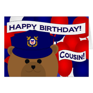 Cousin - Happy Birthday Coast Guardsman! Card