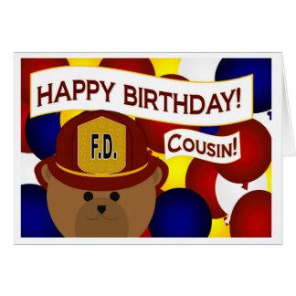 Cousin - Happy Birthday Firefighter Hero! Card