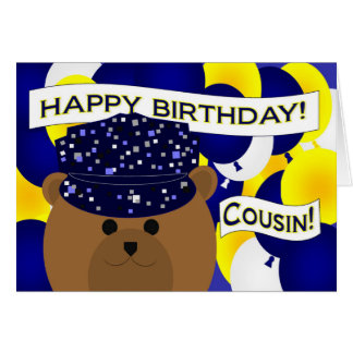 Cousin - Happy Birthday Navy Active Duty! Card