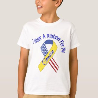 Cousin - I Wear A Ribbon Military Patriotic T-Shirt