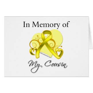 Cousin - In Memory of Military Tribute Card