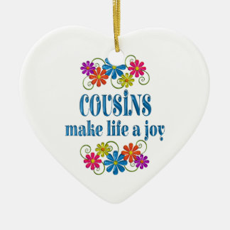 Cousin Joy Ceramic Ornament