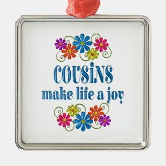 Cousin Joy Metal Ornament