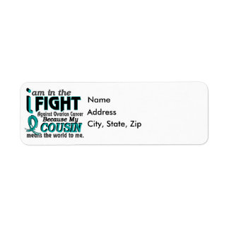 Cousin Means World To Me Ovarian Cancer Return Address Label