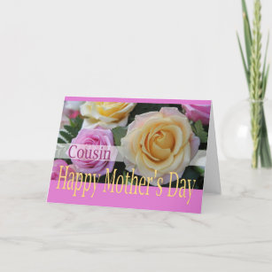 Happy Mothers Day To Cousin Cards | Zazzle