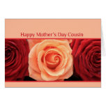 Cousin Mother's Day rose card