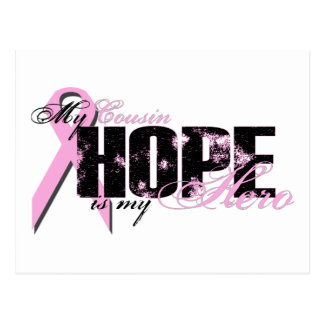 Cousin My Hero - Breast Cancer Hope Postcard