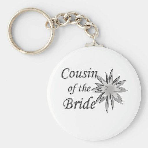 Cousin of the Bride Basic Round Button Keychain