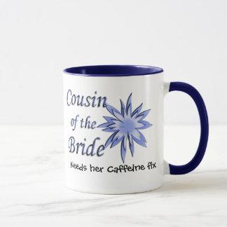 Cousin of the Bride Blue Mug