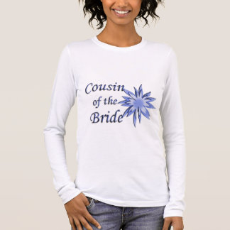 Cousin of the Bride Blue Personalized Long Sleeve Long Sleeve T-Shirt