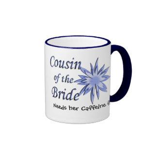Cousin of the Bride Blue Ringer Mug