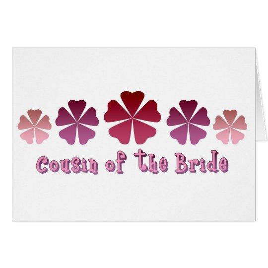 Cousin of the Bride Card