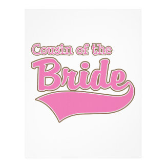 Cousin of the Bride Customized Letterhead