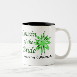 Cousin of the Bride Green Two-Tone Coffee Mug
