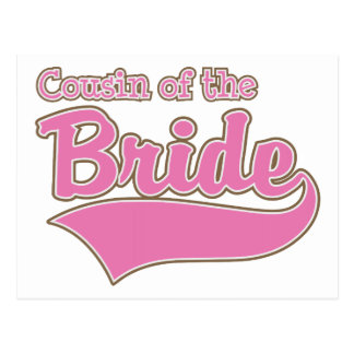 Cousin of the Bride Postcard