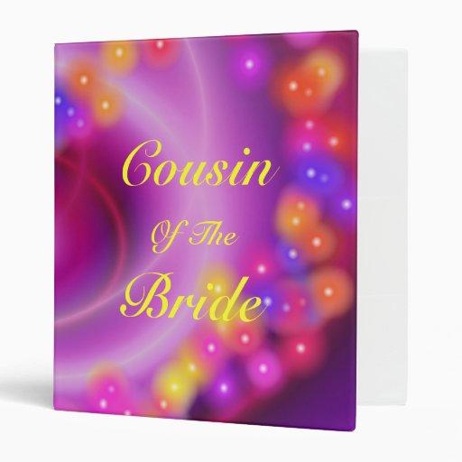 Cousin Of The Bride Swirly Heart Binder