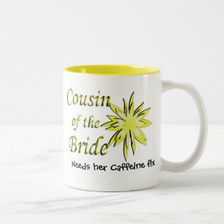 Cousin of the Bride Yellow Two-Tone Coffee Mug