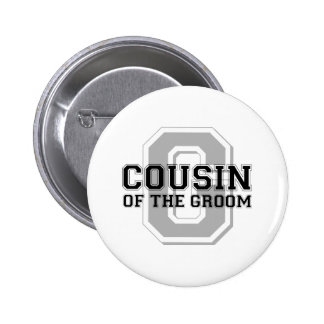 Cousin of the Groom Cheer Pinback Button