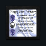 """Cousin poem 70th Birthday Keepsake Box<br><div class=""""desc"""">A great gift for a cousin on their 70th birthday</div>"""