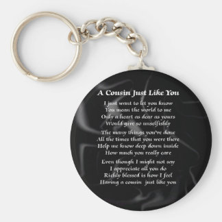 Cousin Poem - Black Silk Keychain