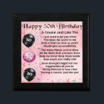 "Cousin Poem - Pink- 50th Birthday Jewelry Box<br><div class=""desc"">A great gift for a cousin on their 50th birthday</div>"