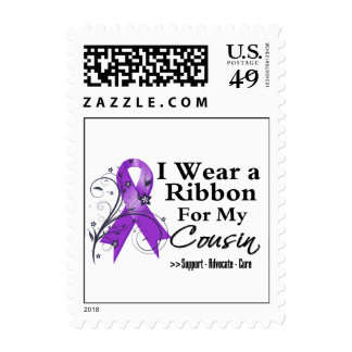 Cousin Purple Ribbon - Pancreatic Cancer Stamps