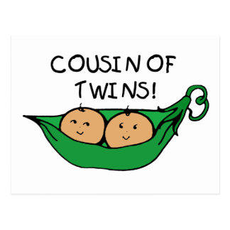 Cousin Twin Pod Postcard