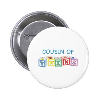 Cousin Twins Blocks Pinback Button