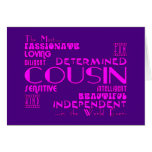 Cousins Birthday Parties & Christmas : Qualities Card