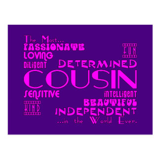 Cousins Birthday Parties & Christmas : Qualities Postcard