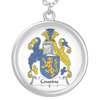 Cousins Family Crest Silver Plated Necklace