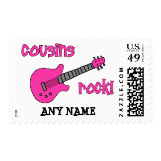 Cousins Rock! with Pink Guitar Postage