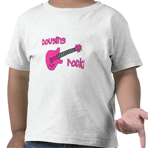Cousins Rock! with Pink Guitar T Shirts