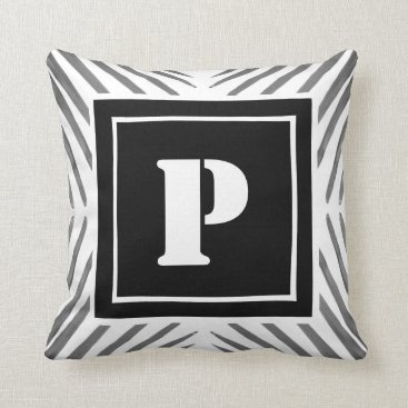 Professional Business Coussin Palmier with Letter has to personalize Throw Pillow