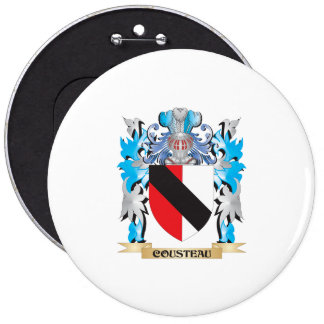 Cousteau Coat of Arms - Family Crest Button
