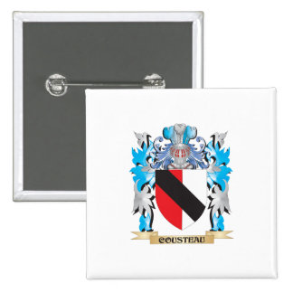 Cousteau Coat of Arms - Family Crest Pinback Button