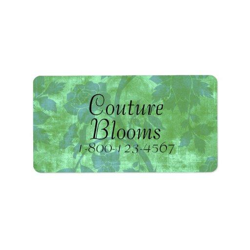 Couture Blooms Florist Store Labels
